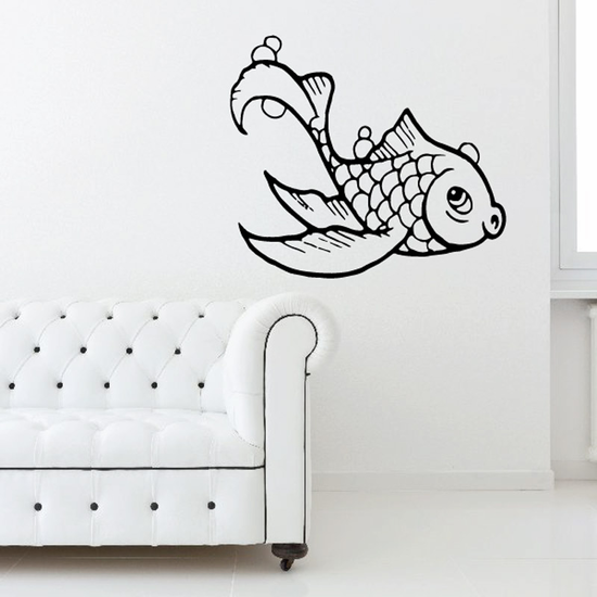 Whistling Goldfish Decal