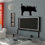 Side Standing Pig Decal