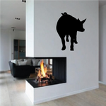 Hind Pig Silhouette Decal