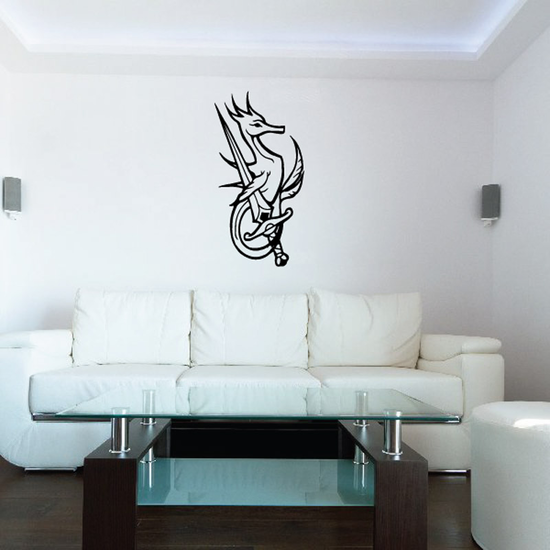 Seahorse and Dagger Decal