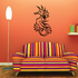 Seahorse and Flowers Decal