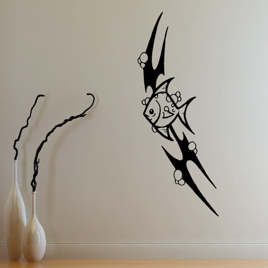 Fish Wall Decal - Vinyl Decal - Car Decal - DC403
