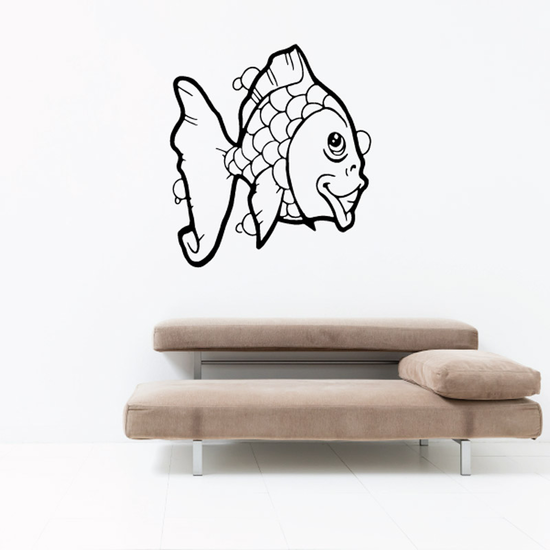 Happy Looking Goldfish Decal