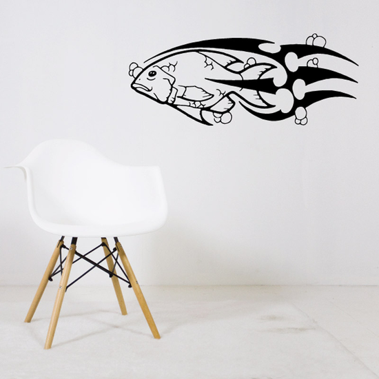 Tribal Fish Wall Decal - Vinyl Decal - Car Decal - DC432