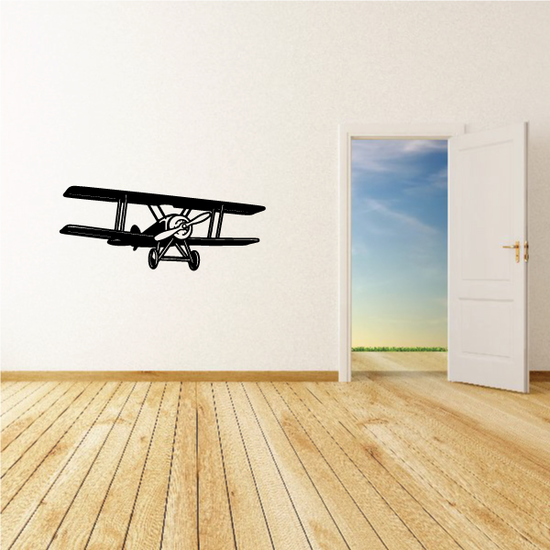 Detailed Biplane Flight Decal