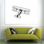 Top View Detailed Biplane Decal