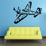 Graphic Propellor Fighter Plane Decal