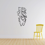 Heart and Flowing Goldfish Decal