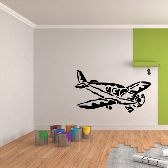 Graphic Personal Propellor Plane Landing Decal