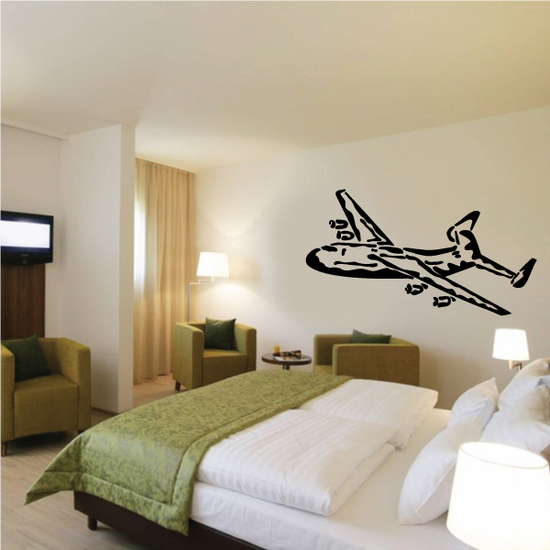 Graphic Cargo Plane Decal