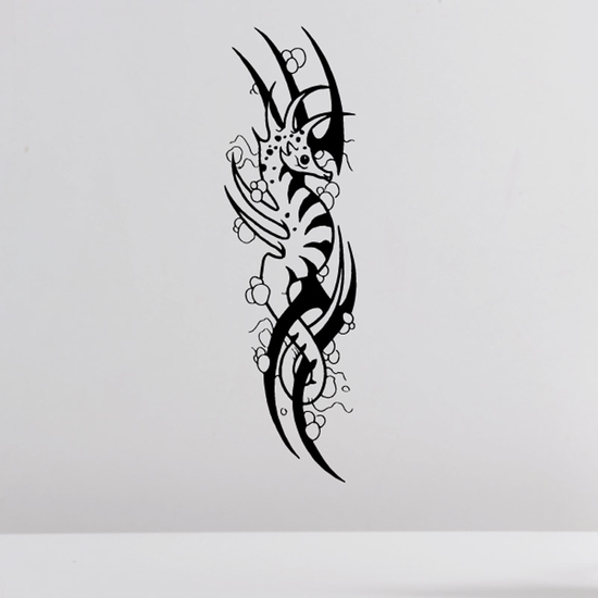 Striped Seahorse with Bubbles Decal