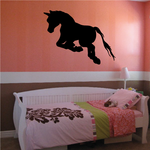 Leaping Pony Silhouette Decal