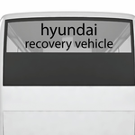 Hyundai Recovery Vehicle Decal