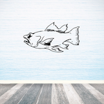 Focused Small Mouth Bass Decal