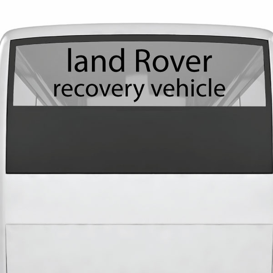 Land Rover Recovery Decal