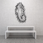 Tribal Spiky Seahorse Decal