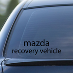 Mazda Recovery Vehicle Decal