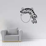 Stripe Musky Fish and Moon Decal