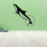 Dolphin Leaping Out and Moon Decal