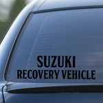 Suzuki Recovery Vehicle Decal