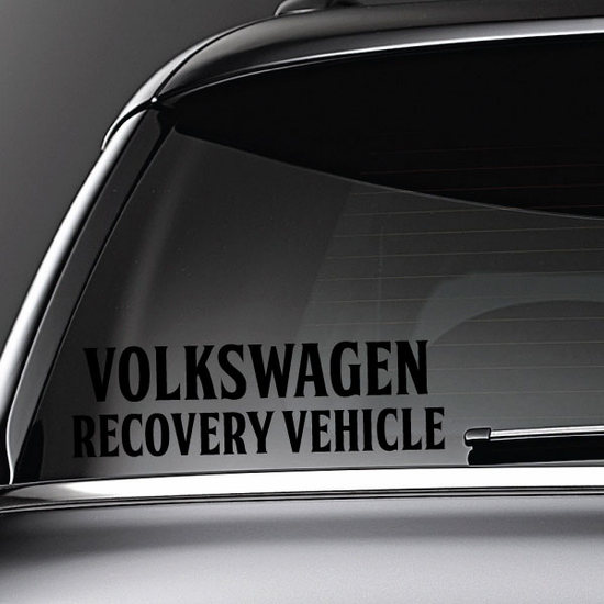Volkswagen Recovery Vehicle Decal