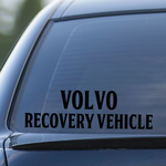 Volvo Recovery Vehicle Decal