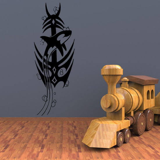 Tribal Anchor and Killer Whale Decal