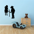 Boy and Girl Praying to a Cross Decal
