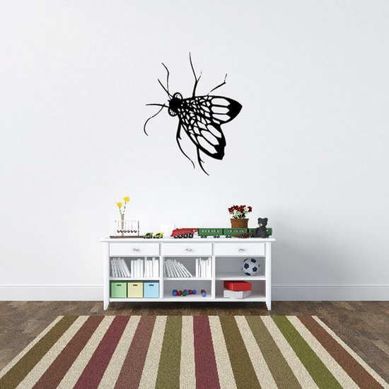 Detailed Winged Fly Decal