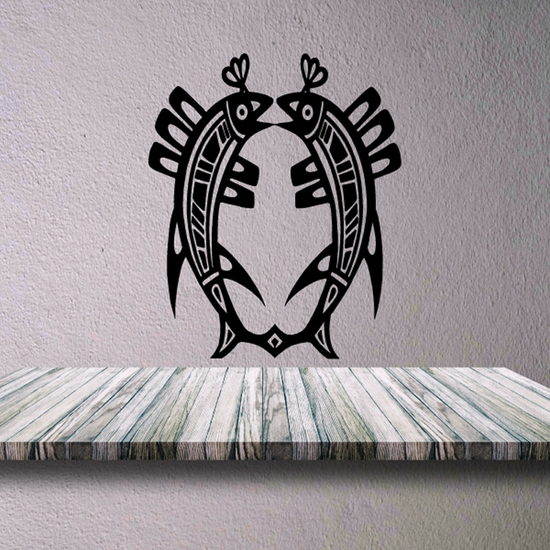 Tribal Fish Wall Decal - Vinyl Decal - Car Decal - DC548