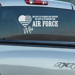 Air Force Wife His Duty Decal