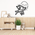 Flying Fish and Moon Decal