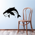 Smiling Blue Whale Decal