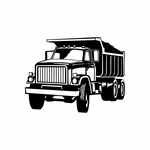 Detailed Small Dump Truck Decal