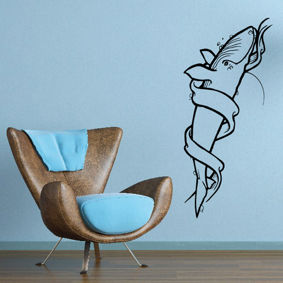 Banner Wrapped Whale Decal