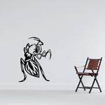 Threatening Praying Mantis Decal