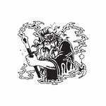 Wizard Casting Protection Spell Decal