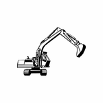 Hydraulic Excavator Decal