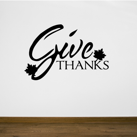 Give Thanks Leaves Decal