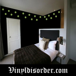 Glow in the Dark Stars Wall Decal - Vinyl Decal - Die Cut Decal - GDK48