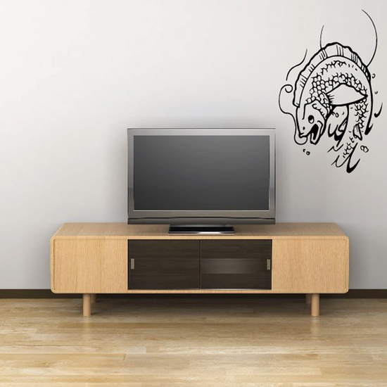 Leaping Fish and Moon Decal