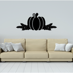 Pumpkin with Wheat Decal