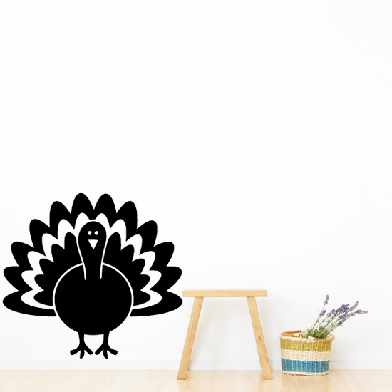 Cartoon Turkey Decal