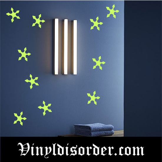 Glow in the Dark Stars Wall Decal - Vinyl Decal - Die Cut Decal - GDK19