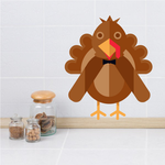 Kids Geometric Turkey Sticker