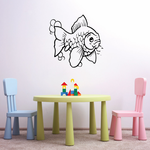 Sabao Goldfish and Bubbles Decal