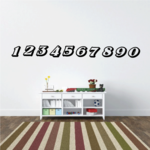 Graceful Race Numbers Decal