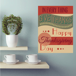 In Every Thing Give Thanks Happy Thanksgiving Day Typography Sticker