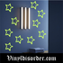 Glow in the Dark Stars Wall Decal - Vinyl Decal - Die Cut Decal - GDK30