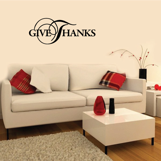 Fancy Give Thanks Thanksgiving Decal